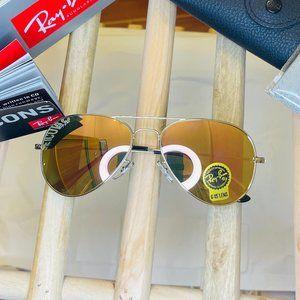 ▲RayBan Aviator Sunglasses Pink Flash Lens 58MM